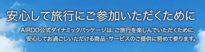 AIRDOダイナミックパッケージ___北海道発着の飛行機予約・空席照会 AIRDO(エア・ドゥ)